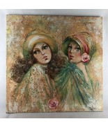 """Mary Vickers, Portrait Of Two Women  24""""x24"""" - $513.25"""