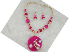 Indian Designer Jewelry Bollywood Style Pink Austrian Stone Gold Plated ... - $11.00