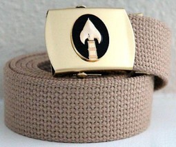 Office of Strategic Services Khaki Belt & Brass Buckle - $17.81