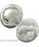 ATHENA Helmeted Head / Bull. RARE Lucania. Thourioi. Ancient Greek Silve... - $53.10
