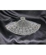 VINTAGE Fenton Art Glass Clear Daisy Button Fan Tray - $22.00