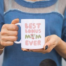 Best Bonus Mom Ever Flower Mugs Mothers Day Gifts For Stepmom or Godmother - $14.99
