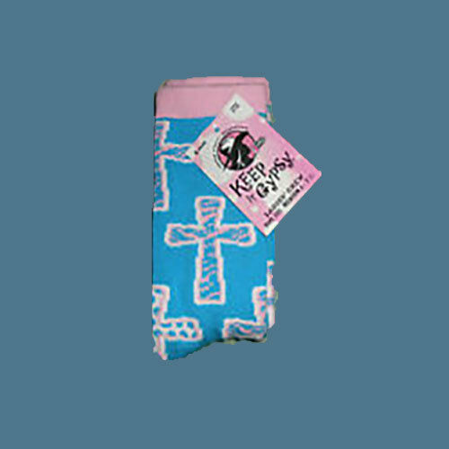 Riding Socks JUSTIN GYPSY Girls Medium Crosses Print NEW!