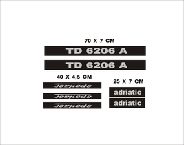 TORPEDO  6206 A  - Tractor decal set, reproduction - $36.00