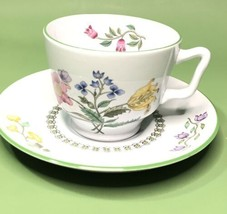 Spode W150-B Summer Palace Tea Cup & Saucer, England Fine Stone China. - $40.66