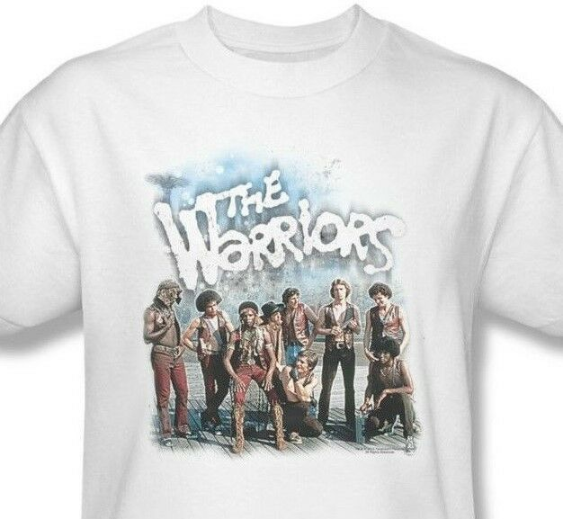 The Warriors T-shirt Free Shipping classic 1970's movie cotton white tee PAR498