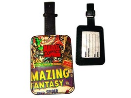 Marvel Classic Comic Book Covers Collage Luggage Tag with Zinc Badge, NE... - $13.54