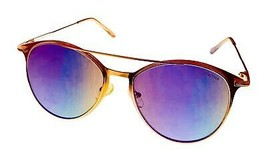 Kenneth Cole Reaction Mens Rose Gold Sunglass Round Metal Flash Lens KC1353. 28Y - $17.99