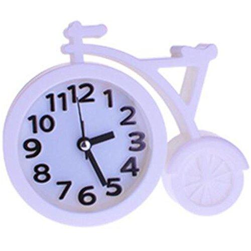 Nostalgia Noiseless Alarm Clock Kids' Birthday Gift Student Clock White - $16.54