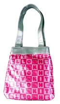 Sanrio Hello Kitty Pink Faux Sequins Jacquard Die Cut White Head Shoulder Bag NW image 2