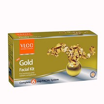 Vlcc Gold Facial Kit (2.1 Oz) Gel Mask Scrub Facial Cream Sixstep Formul... - $10.28