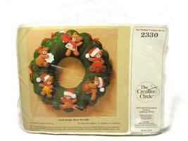 The Creative Circle 2330 Holiday Christmas Felt Kit Teddy Bear Wreath NE... - $13.85