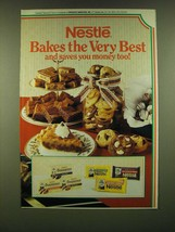 1990 Nestle Chocolate Ad - Nestle Bakes the very best and saves you mone... - $14.99