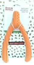 """Rubber Wishbone Dog Toy Orange 10.5"""" Long, Boots & Barkley, For Large Dogs NEW image 1"""