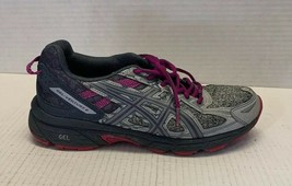 ASICS Womens Gel- Venture 6 Running Shoes 1012A504 Gray/Purple Sneaker Size 8 - $36.26 CAD
