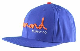 Diamond Supply Co. o.G. Royal Blue Snapback Hat Size: o/S