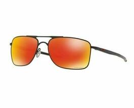 Oakley Occhiali da Sole Gauge 8 OO4124-1362 Opaco Nero con Prisma Rubino... - $128.69
