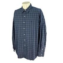 Polo Ralph Lauren Men's Lowell Sport Long Sleeve 100% Cotton Navy Check ... - $17.80