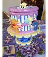 Winnie The Pooh Piglet Eeyore Roo Ceramic Happy Birthday Cake Dish Cooki... - $99.99