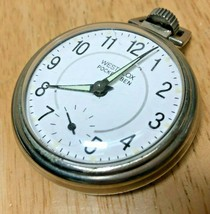 Vintage Westclox USA Pocket Ben Mens Hand-Winding Mechanical Pocket Watch Hours - $22.79