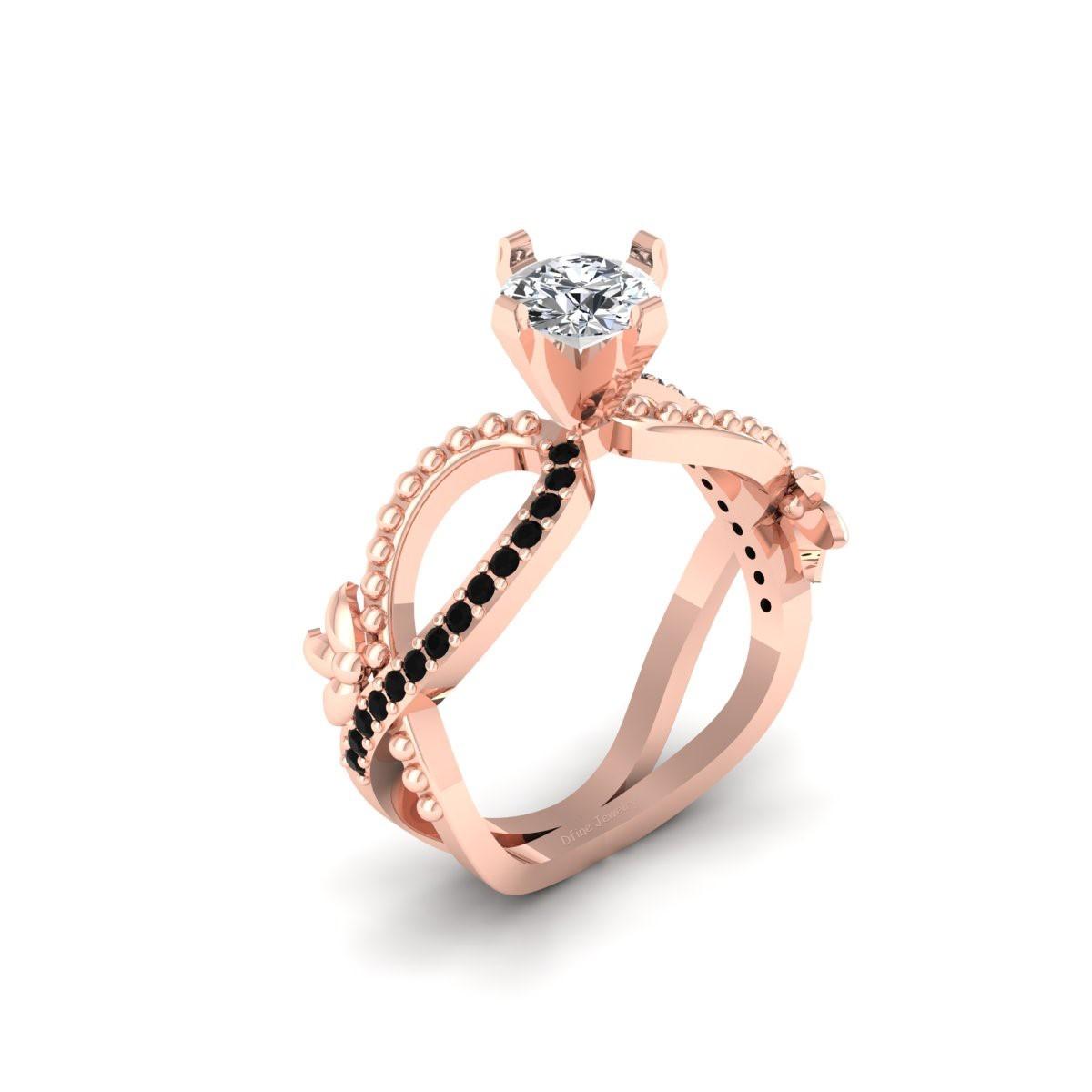 Excellent Round Cut 0.80ct Moissanite Art Nouveau Engagement Ring Bridal Jewelry - $1,299.99