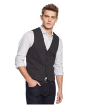 Alfani Black Ice Heathered Knit Vest, Men's Big&Tall Size 2XLT - $65.33