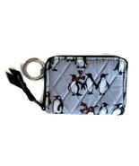 Vera Bradley Petite Zip Around Wallet ~ Playful Penguin Gray Print ~ New... - $28.95