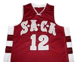 Dwight Howard #12 Saca High School Men Basketball Jersey Maroon Any Size image 1