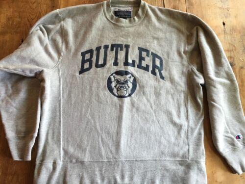 Champion Butler Bulldogs Crewneck Sweatshirt sz M Reverse Weave  Mint
