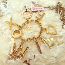 WILDFOX COUTURE 'WILDFOX' 14KT YG PLATED/TEXTURED 7 CHARMS BRACELET**NEW... - $44.40