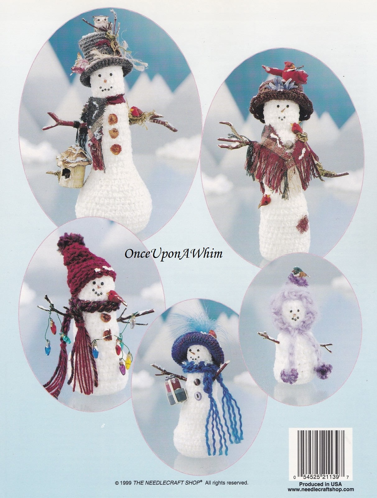 Snow Folk Snowmen & Evergreen Trees, TNS Crochet Pattern Booklet 991031 NEW