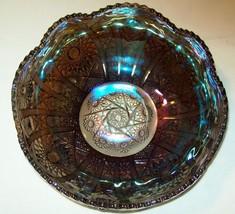 PRETTY LARGE SMOKEY AMETHYST HOBSTAR BOWL IMPERIAL GLASS - $48.20