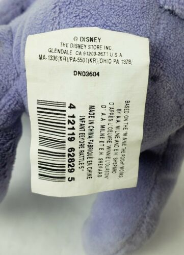 "Disney Winnie The Pooh Eeyore 6"" Plush Donkey Stuffed Animal Jingle Bell"