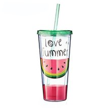 Cup with Lid Straw, Creative Double Wall Tumbler Cup, Travel Cup, Hot Models - $38.27