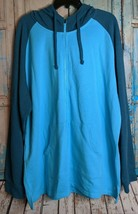 XERSION Full Zipper Mens XXL Long Sleeve Hoodie Blue Very Soft Material NWT - $37.42