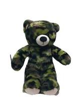 Build a Bear BABW Camo Camouflage Teddy Bear 16 inch 2013 - $20.57