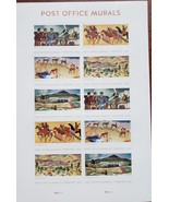 Post Office Murals Multiple Stamp Designs- 2019 USPS 10 Forever Stamps S... - $8.95