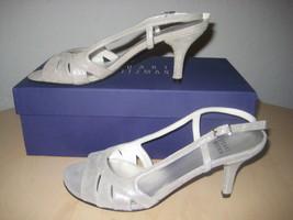Stuart Weitzman Shoes Size 6 M Womens New Mischievous Silver Open Toe Heels - $197.01