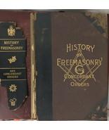 History of Freemasonry and Concordant Orders 1910 Masonic Book Stillson ... - $140.25