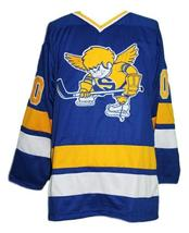 Minnesota fighting saints retro hockey jersey blue   1 thumb200