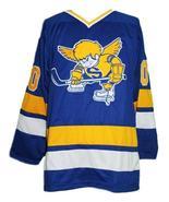 Custom Name # Minnesota Fighting Saints Retro Hockey Jersey Blue #20 Any... - $54.99+