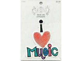 Hobby Lobby Sew-ology Iron-on Applique, I Love Music #1614056