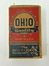 Set of 2 Vintage Ohio Match Company Boxes Large and Small 1940s - $9.89