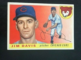 1955 Topps Baseball Card #68 JIM DAVIS - Chicago Cubs (indent upper left... - $2.92