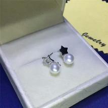 freshwater pearl 925 silver earring in star des... - $32.00