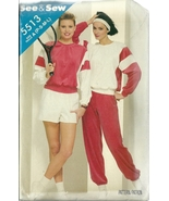 See And Sew Sewing Pattern 5513 Misses Womens Top Pants Shorts Size P S ... - $9.99