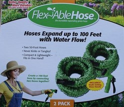 Flexiable Hose 2pack The Incredible expanding green hose - $40.30