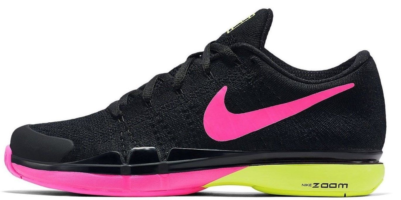 NIKE ZOOM VAPOR FLYKNIT TENNIS ROGER FEDERER SIZE 9 NEW WITH BOX  (845797-007) - £80.81 GBP