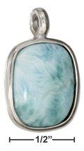 Sterling Silver Cushion Shape Larimar Pendant - $71.99+