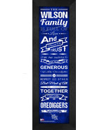"Personalized Colorado School of Mines ""Orediggers""24x8 Family Cheer Fram... - $39.95"
